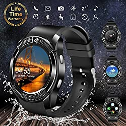 Smart Watch Bluetooth Smartwatch Touch Screen Wrist Watch With Camera Sim Card Slot Waterproof Smart Watch Sports Fitness Tracker Android Phone Watch Compatible With Android Phones Samsung Huawei