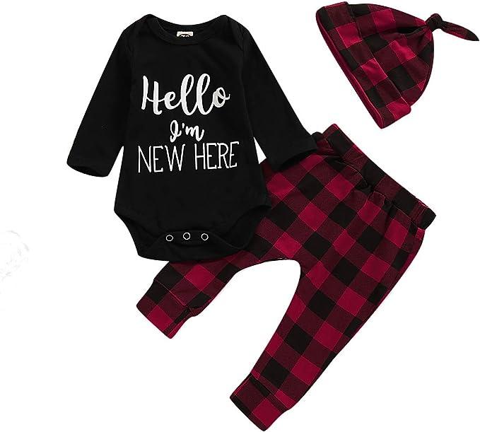 Amazon.com: Bebé Bebé Bebé Niño Niña Trajes de Navidad Bebé ...