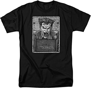 Batman Joker Recluso Mens Camisa Manga Corta Negra (XXXXX-Grande): Amazon.es: Ropa y accesorios