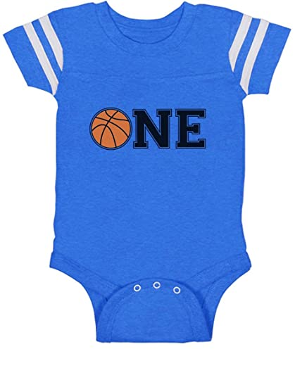 1st Birthday Gift For One Year Old Infant Basketball Baby Jersey Bodysuit 6M Blue