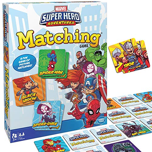 Wonder Forge Marvel Matching Game for Boys and Girls Age 3 to 5 – A Fun and Fast Superhero Memory Game