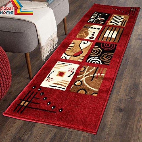 Global Home Carpet for Living Room -22X55 Inch – Red