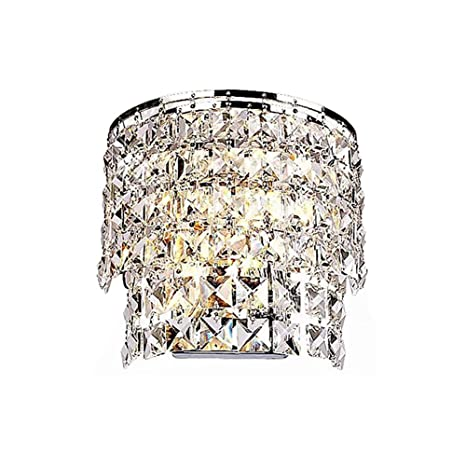 TopDeng Crystal Indoor Wall lamp, E12 Wall Sconce Luxury ...