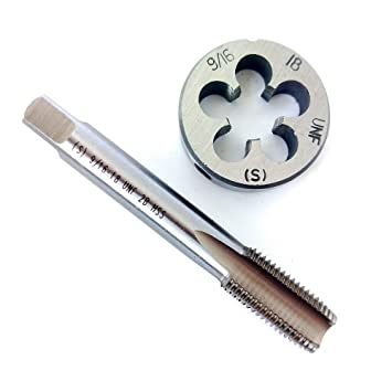 9 16 18 HSS Tap And Die Set Thread Round Right Hand Taper Amazonca Tools Home Improvement