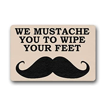 Amazon Com We Mustache You To Wipe Your Feet Door Mats Doormat