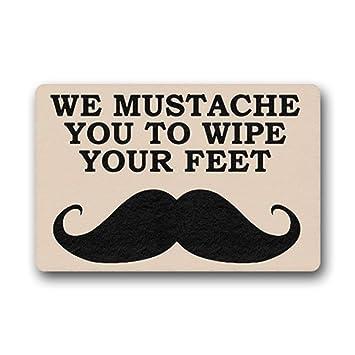 Amazon Com We Mustache You To Wipe Your Feet Door Mats Doormat
