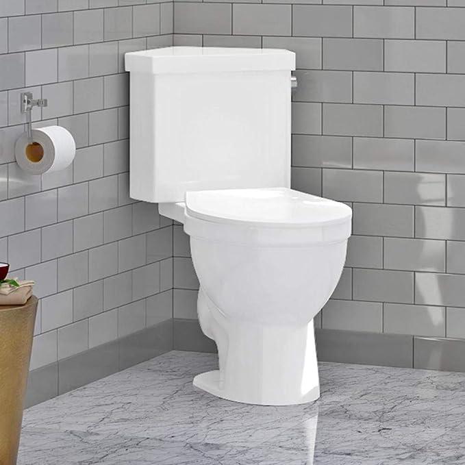 Magnus Home Products Lawen Single-Flush Two-Piece Corner Toilet