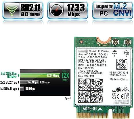Amazon.com: DEPAPID 9560 WiFi Card M.2 CNVi 9560NGW 802.11ac ...