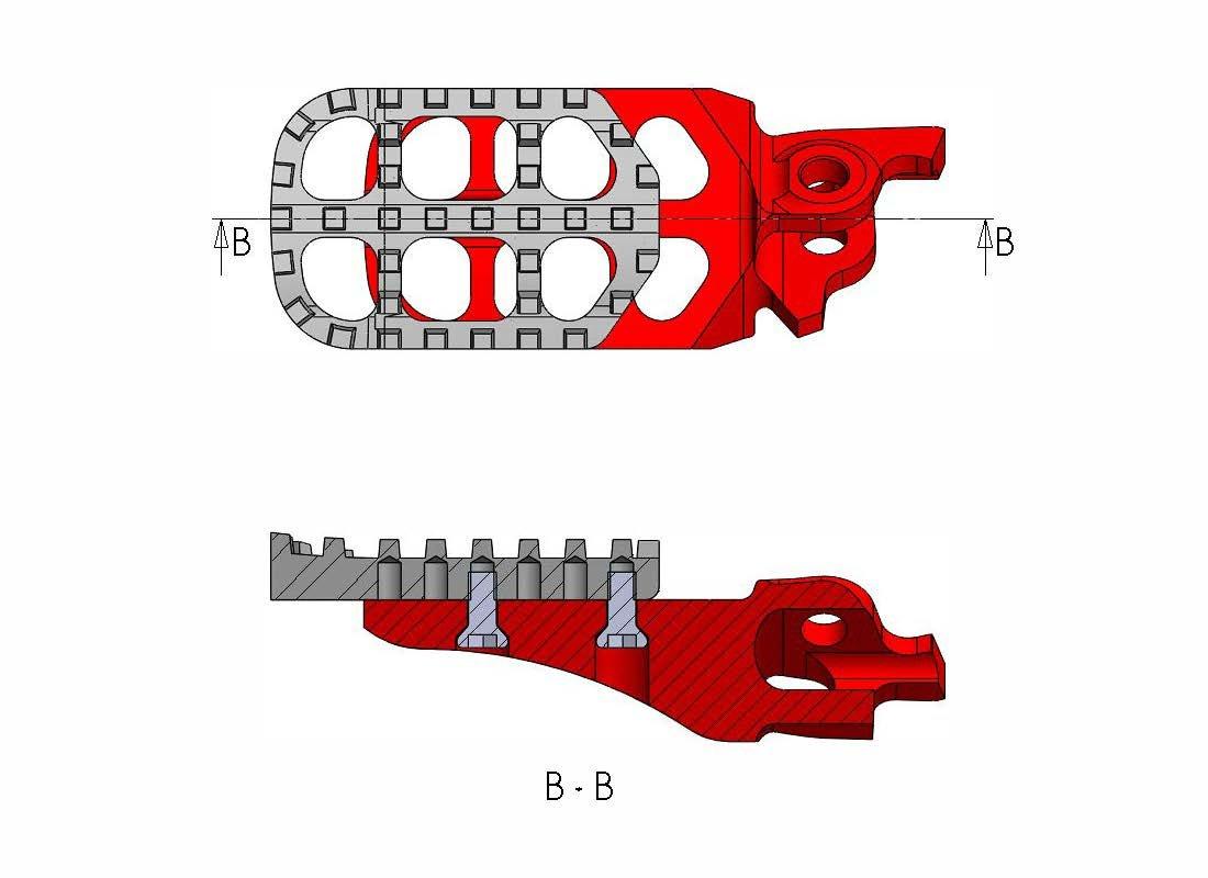 Outlaw Racing OR4139BK Billet Aluminum Adjustable Wide Foot Pegs Footpegs Black Husqvarna KTM