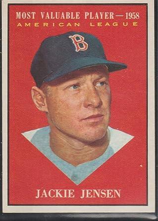 1961 Topps #476 Jackie Jensen Boston Red Sox Baseball Card