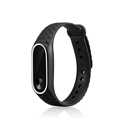 WindTeco Correa Xiaomi Mi Band 2, Silicona Repuesto Pulsera Recambio Reloj Banda Extensibles Correa Reemplazo