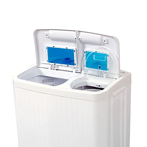 Della© Electric Small Mini Portable Compact Washer Washing Machine (33L Washer & 16L Dryer)