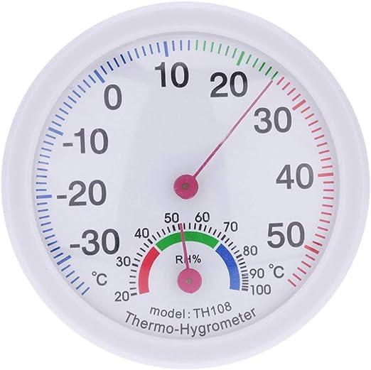 Yardwe Termómetro de Exterior Termómetro de jardín Reloj en Forma de Reloj Mini Interior Exterior Higrómetro de Alta precisión: Amazon.es: Hogar