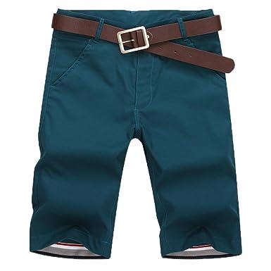 Skinny Short Chino Classique Homme,Overdose Casual Été Bermuda Pantalon  Slim Coton Élégant Trousers Shorts 3500cdc7fa28