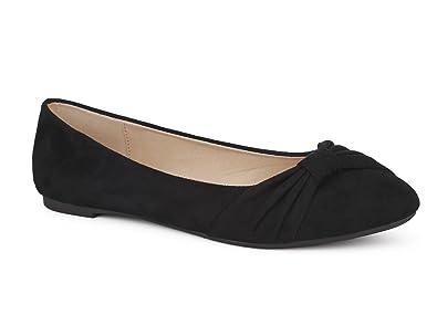47b38686d1c MaxMuxun Black Ladies Velvet Comfortable Slip On Ballet Ballerina Pumps Bow  Tie Dance Shoes Dolly Flats