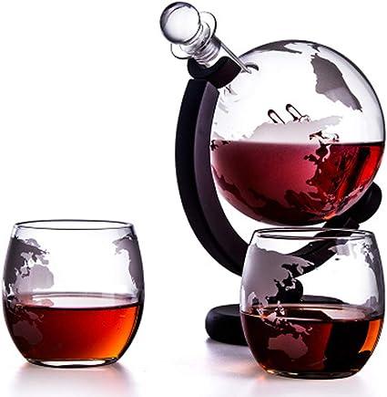 Home Scotch Decantador de vino blanco, 900 ml, con 2 copas de ...