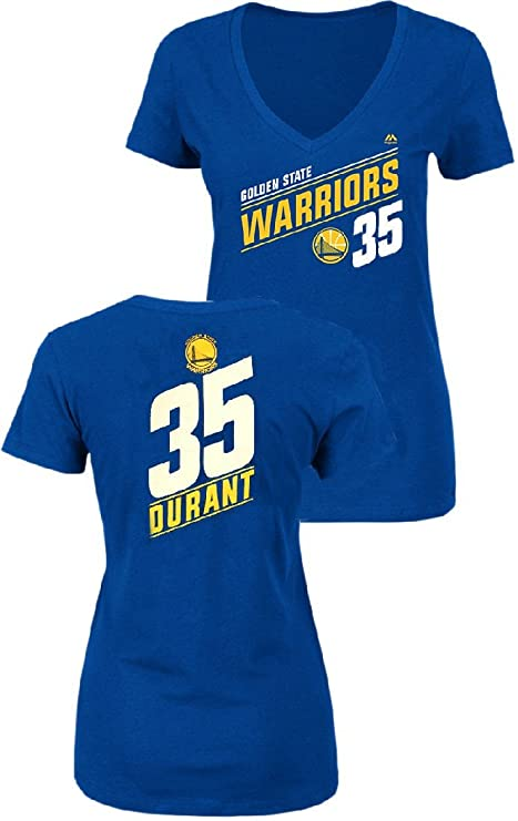 f23e7ec92b1 VF Ladies Kevin Durant Golden State Warriors Solid Recruit V Neck T Shirt  (Small)