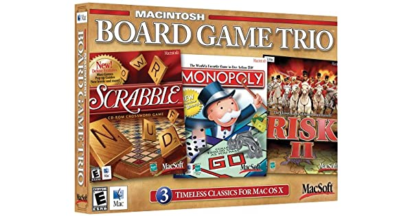 Board Game Trio for Mac: Risk 2,Monopoly & Scrabble by MacSoft: Amazon.es: Videojuegos