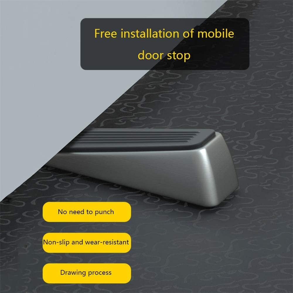 ZXWCYJ Door Stoppers Holds Doors in Place Non-Rusting Suits Any Door,Bronze Heavy Duty Door Stop Wedge Made of Premium Quality Zinc Alloy and Rubber Non-Slip