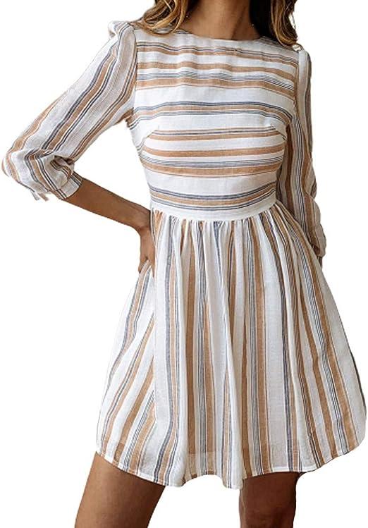 Vestido de Fiesta Mujer Verano Casual, Vestido Cortos para Mujer ...
