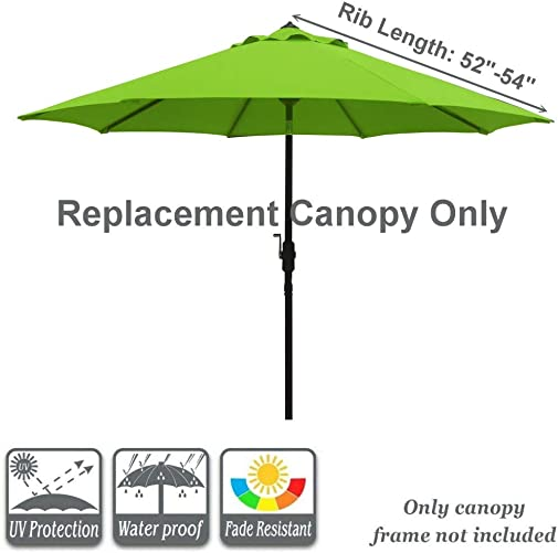 Sunbrella Patio Umbrella 9 Feet Outdoor Market Table Umbrella Replacement Umbrella Canopy for 9 ft 8 Ribs Patio Umbrella Replacement Sunbrella Market Table Outdoor Umbrella Canopy 8 Ribs Cornell