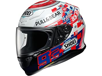 Shoei NXR Marquez Power Up Motorcycle Helmet S White Red Blue (TC-1)