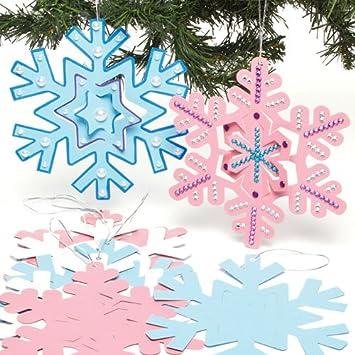 Baker Ross Deko Spiral Anhänger Schneeflocken 10 Stück