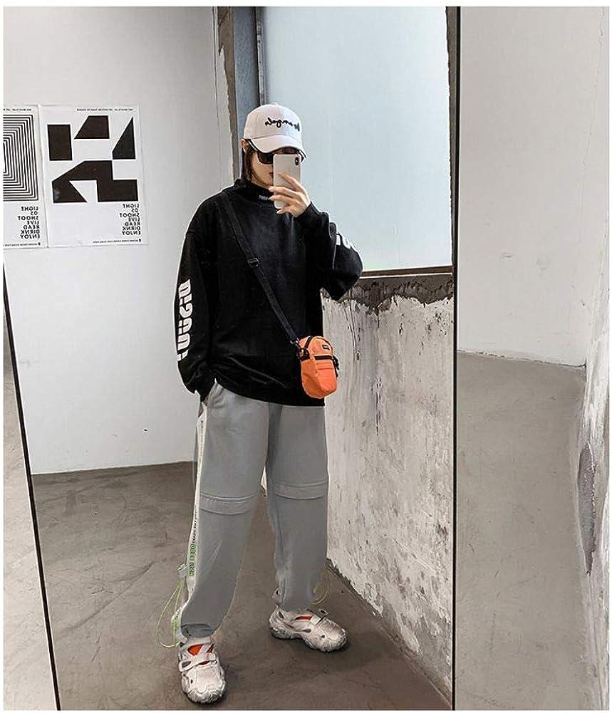 LMSHD Herren Sweatshirt Hip-Hop Pullover Tops Herren Casual Trainingsanzug Harajuku Pocket Hoodie Sweatshirt Streetwear Black