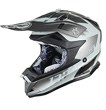 JUST1 casco J32 Pro Kick, color negro/gris, ...