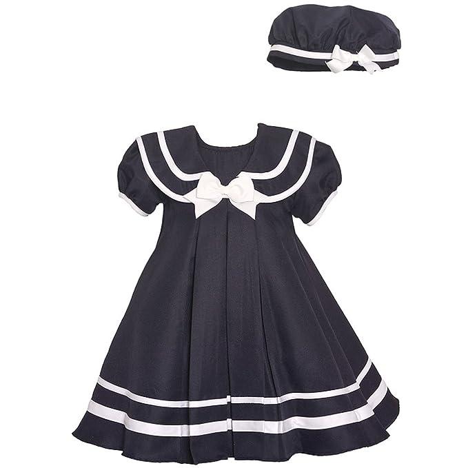 27df6b132 Rare Editions - Vestido - para bebé niña azul azul marino 18 Meses:  Amazon.es: Ropa y accesorios
