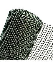 1m2 GEVALLEN in 1m breedte kunststof omheining tuinrooster omheining van kunststof mazen 15 mm donkergroen (per meter) RO15/100HD