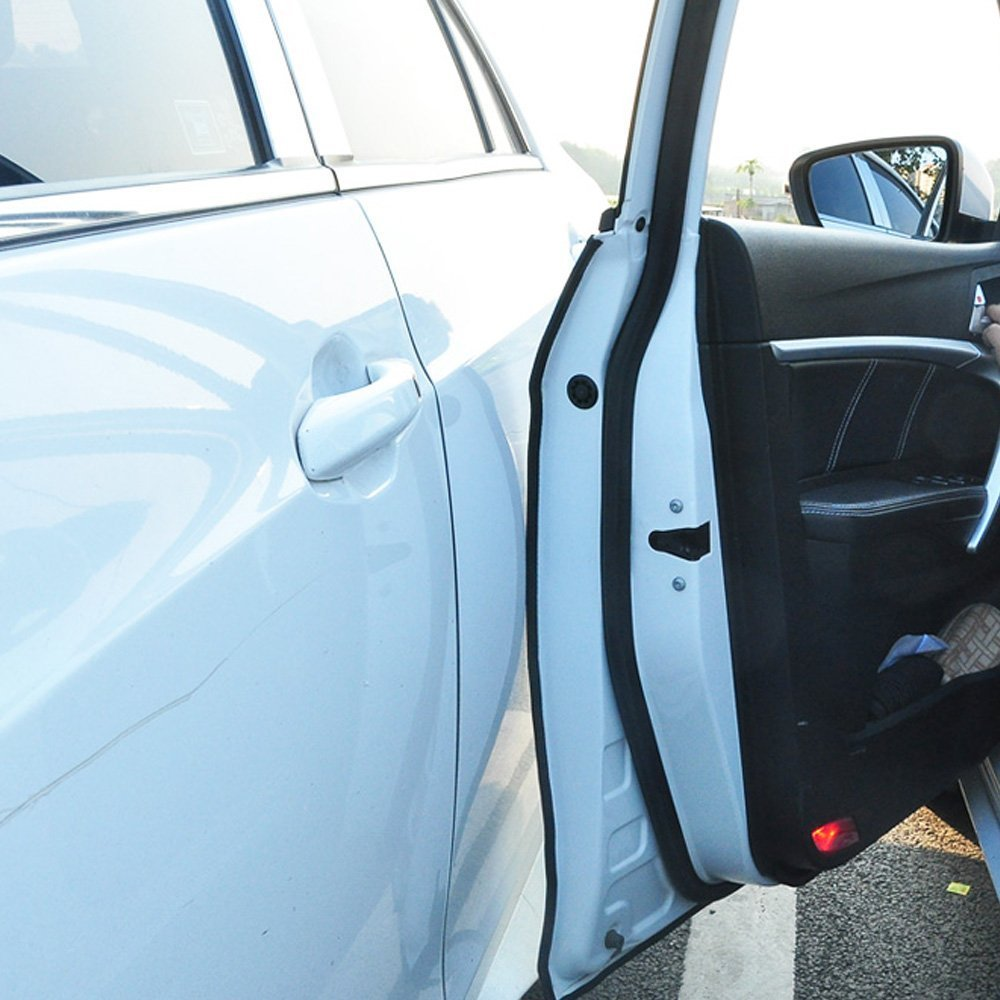 QLOUNI 16Ft 5M Thick Car Door Edge Guards Strip Heavy Duty U Shape Rubber Trim Protector