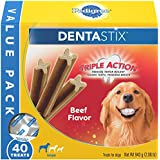 Pedigree Dentastix Large Dental Dog Treats Beef Flavor, 2.08 Lb. Value Pack (40 Treats), Makes A Great Holiday Snack For Dogs