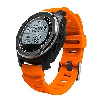 QQA Reloj inteligente GPS incorporado Presión de aire/temperatura/altitud/Monitor de pulso cardiaco Impermeable Reloj deportivo digital para deportes al ...