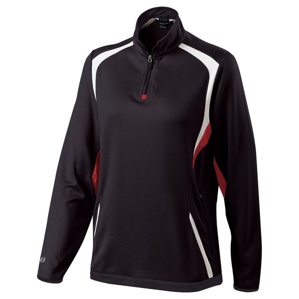 Holloway Ladies Dry Excel Transform Pullover (Small, Black/Scarlet/White) by Holloway
