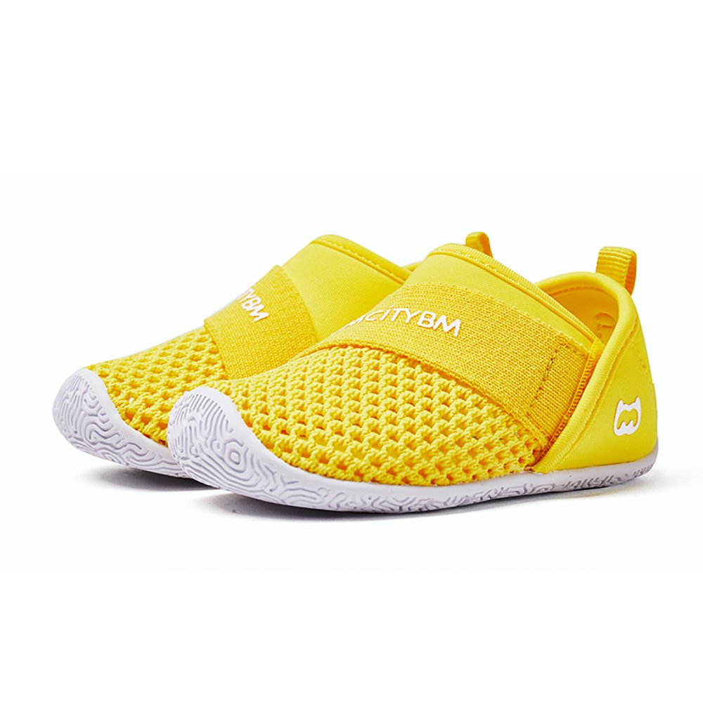 BMCITYBM Baby Sneaker Shoes Breathable Mesh Lightweight for Girls Boy Kids Running Walking Casual Yellow
