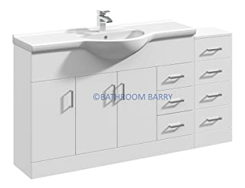 gloss gloss modular bathroom furniture collection shower 1500mm modular high gloss white bathroom combination vanity basin sink cabinet four drawer cupboard