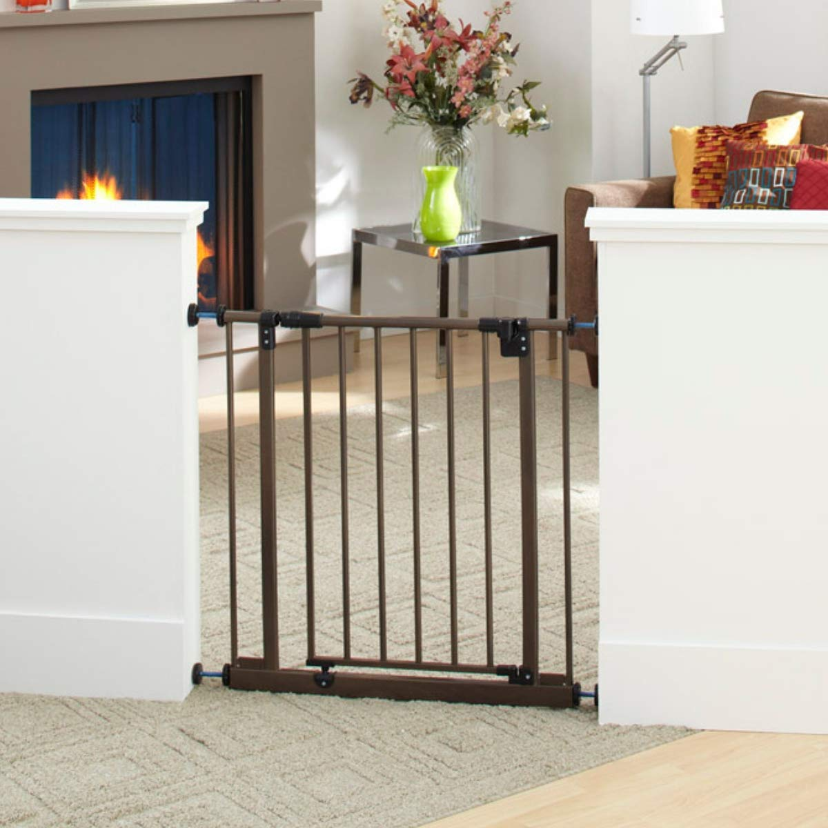 Easy Close Gate, White, Fits Spaces between 28 to 38.5 Wide and 29high North States Industries 4910S