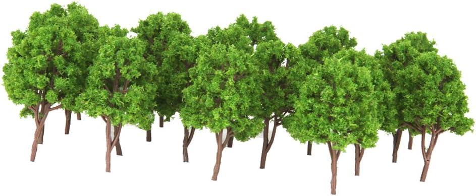 IPOTCH 20 Piezas De árbol Modelo De Plástico, Plantas Verdes del Bosque N Gauge Building Park Garden Miniatura Paisaje Wargame Scenery Supplies: Amazon.es: Juguetes y juegos