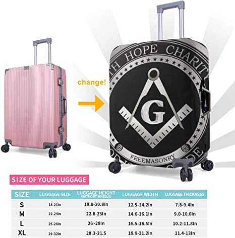 Luggage Cover Faith Hope Love Protective Travel Trunk Case Elastic Luggage Suitcase Protector Cover