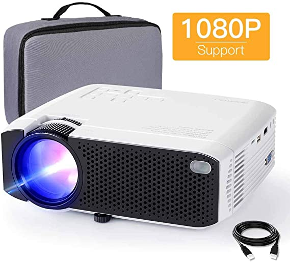 Amazon.com: Mini proyector, APEMAN 3800 Lux 1080P compatible ...
