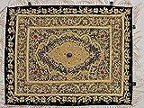 Zardozi Jewel Carpet – Handmade Wall Decoration with Traditional Stone Work ~ 24 Inch x 18 Inch