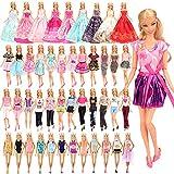 "Barwa 16 PCS 11.5""Doll Clothes 5 PCS Fashion Outfits 5 Sets Mini Dresses 3 PCS Wedding Grown Dresses 3 Sets Bikini Swimsuits for Barbie Doll"