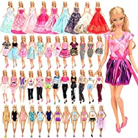 BARWA 16 Pack Doll Clothes and Accessories 5 PCS Fashion Dresses 5 Tops 5 Pants Outfits 3 PCS Wedding Gown Dresses 3...