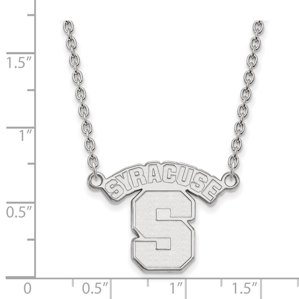 Collegiate Syracuse University Sterling Silver LogoArt Syracuse University Large Pendant with Necklace