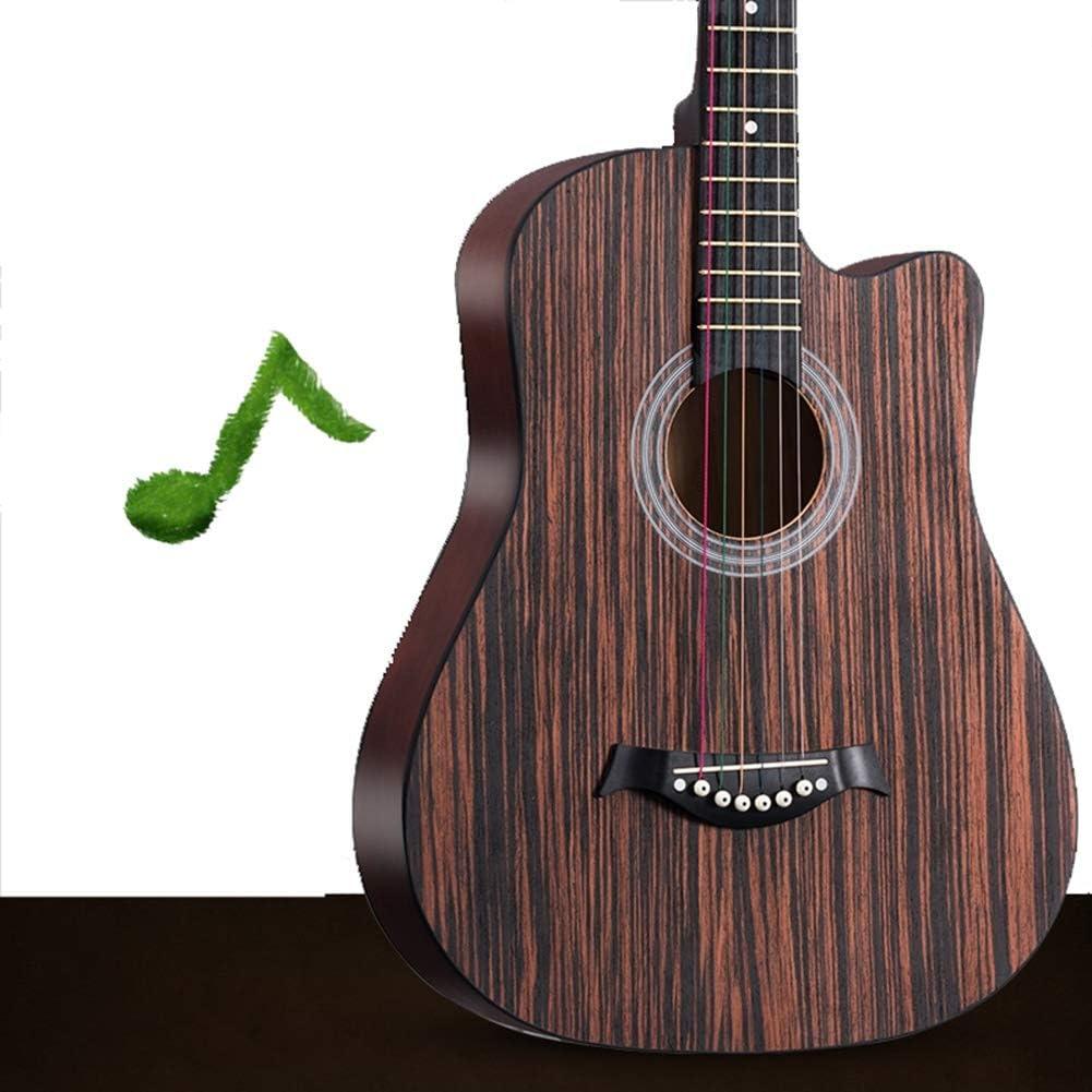 Guitarra Acústica Guitarra Clásica Acorazado Guitarra Cortada Tono Completo Kit para Principiantes con Bolsa De Guitarra, Instrumentos De Cuerda, Sintonizador,2 Colores,2 Tamaños Gdming