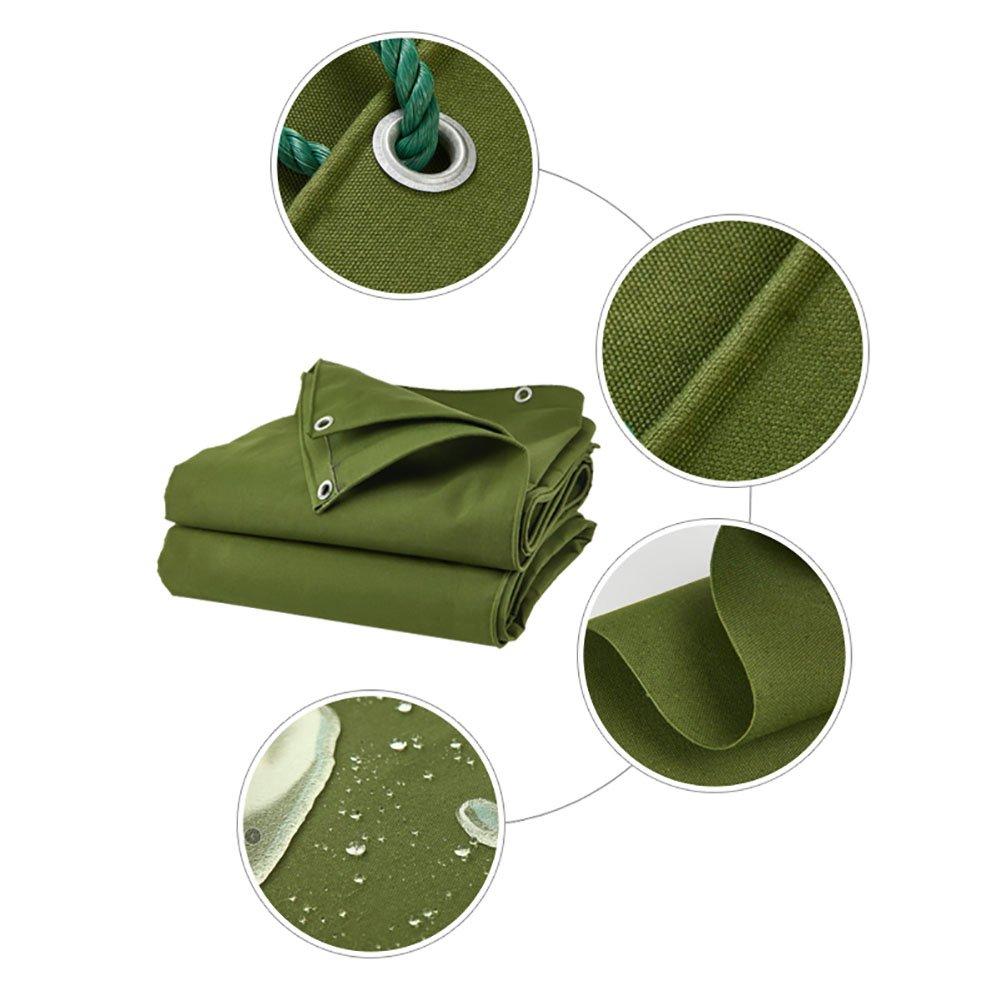 JNYZQ Doppelseitige Wasserdichte Tarp-große verdicken Hochleistungsplane-Konservierungsmittel-regendichte Zelt-Splitter-Markise Sun Shade-Boden-Blatt-Abdeckungs-Schuppen-Tuch - Grün, 600 G M²