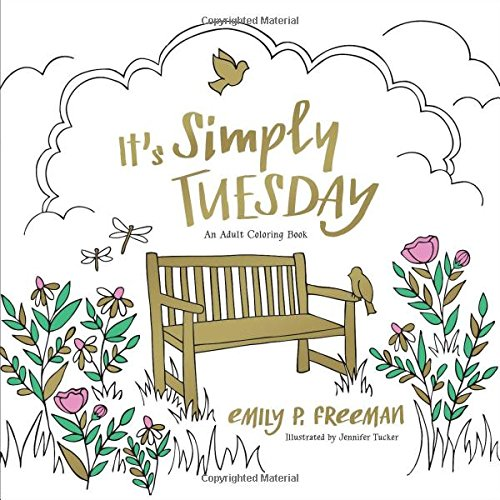 Read Online It's Simply Tuesday: An Adult Coloring Book pdf epub