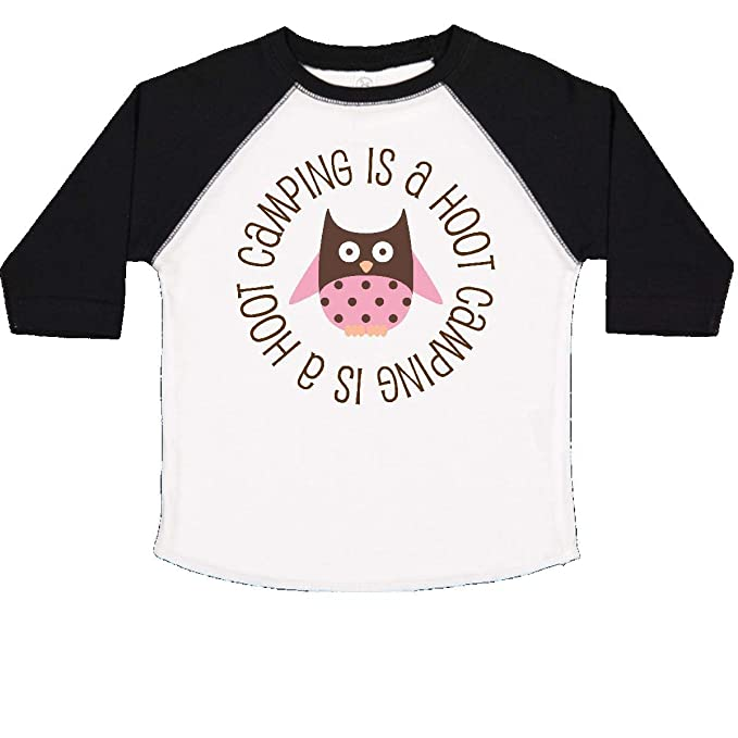 inktastic Camping is a Hoot Summer Camp Toddler T-Shirt