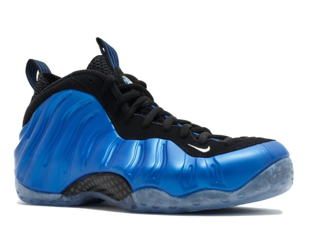 Nike Men's Air Foamposite One XX, DK NEON ROYAL/WHITE-BLACK, 8.5 M US by NIKE